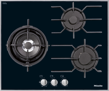 KM 3014 - Gas hob with 3 burners incl. dual wok for particularly versatile cooking convenience.--NO_COLOR
