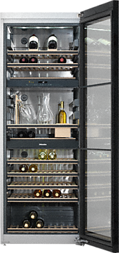 KWT 6834 SGS - Freestanding wine unit FlexiFrame and SommelierSet for the perfect enjoyment of your wine.--NO_COLOR