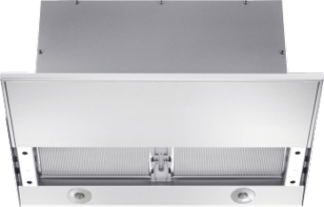 DA 3668 - Slimline cooker hood with motorised pull-out canopy for maximum convenience.--Stainless steel