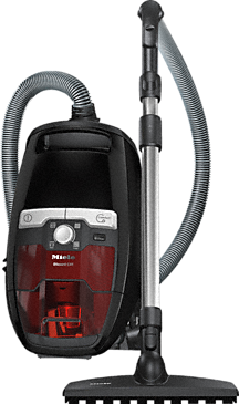 Blizzard CX1 Jubilee PowerLine - SKRR3 - Bagless cylinder vacuum cleaners with protective parquet floorhead for first-class care of delicate hard floors.--Obsidianschwarz-Rot